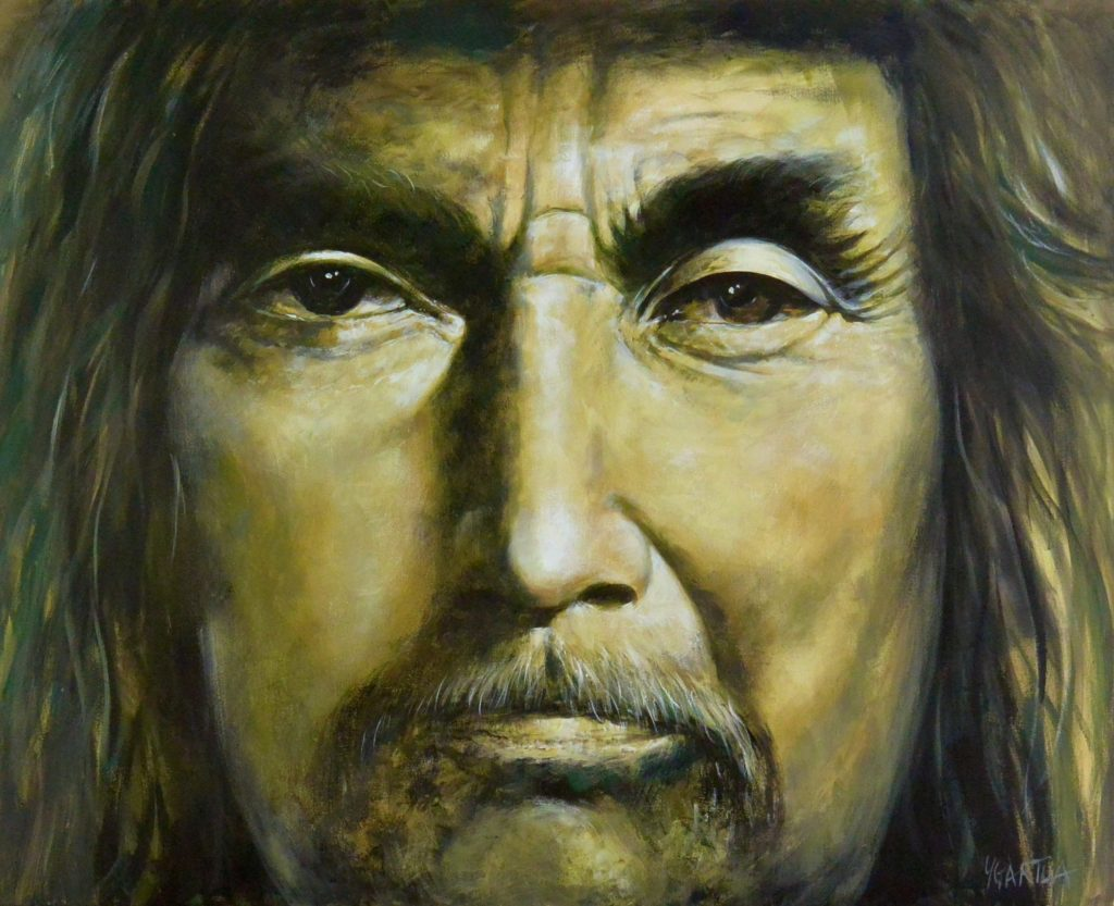 Portrait paining of native face by Paul Ygartua