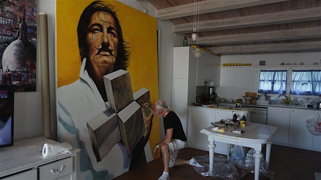 Portrait of Salvador Dali by Paul Ygartua