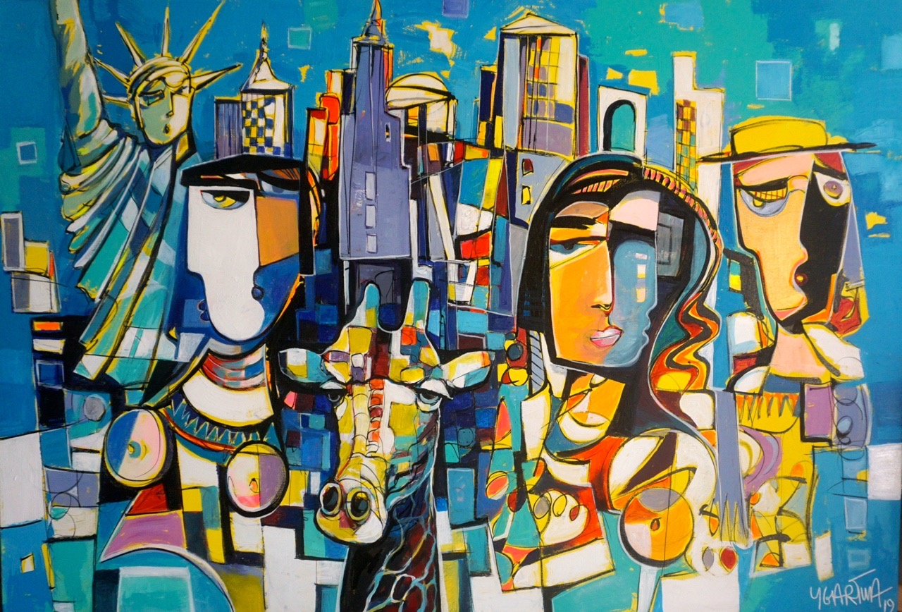 New York Graffiti abstract painting